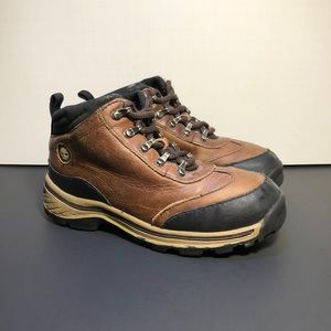 Timberland Boys Brown Leather Hiking Ankle Boots